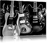 Best guitare électrique pas cher - Monocrome, guitares électriques élégantes, Format: 100x70 sur toile Review