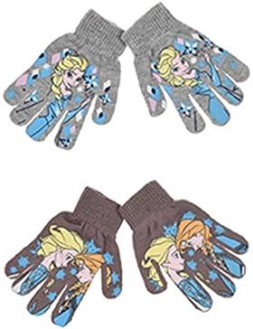 2 pares de guantes elasticos 2 modelos diseño Elsa y Anna FROZEN (Disney) (talla unica) 2-6 años + regalo de 12...