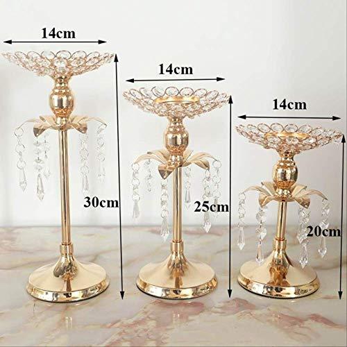 Leuchter Gold Kristall Kerze Halter Hochzeit Dekoration Tisch Herzstücke Candelabra Geburtstag Party Blume Vase Halter Home Decor