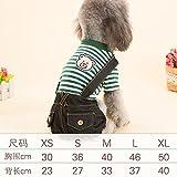 Y-Hui Hund Kleidung Kleidung Overalls Teddy Pet Pudel Hund Beine tragen im Herbst und Winter, S (Kasten 36 Cm)