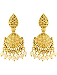 Voylla Gold Plated Great Maratha Dangler Earrings For Women