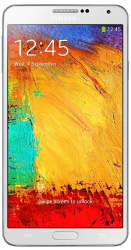 Samsung Galaxy Note 3 Smartphone, Display 5,7 pollici, 2,3GHz, Quad-Core, 3GB RAM, Fotocamera 13 MP, Android 4.3, Bianco [EU-Import]