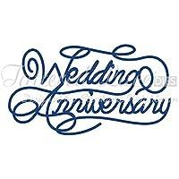 Tattered Lace D433 - Fustelle con motivo: Wedding Anniversary, design: Stephanie Weightman