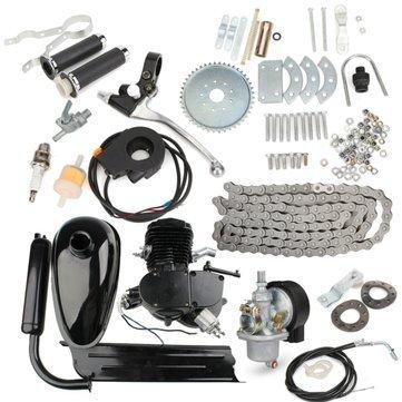 Generic 80cc 2-Stroke Ciclo Bicicletta Motorizzata Kit Motore corpo nero