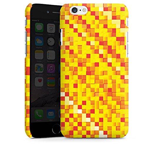 Apple iPhone X Silikon Hülle Case Schutzhülle Muster Pixel Rauten Premium Case matt