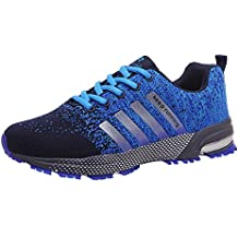 new product 92489 ee9e9 Padcod Zapatillas Deporte Hombre Zapatos para Correr Athletic Cordones Air  Cushion 3cm Running Sports Sneakers 36