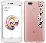 Xiaomi Mi A1 Funda, ivencase Carcasa Flexible Ultra Slim Transparente Crystal Clear Soft TPU...