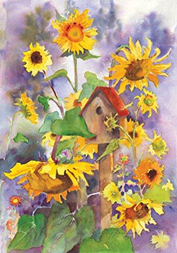 Toland Home Garden Vogelhaus und Sonnenblumen House