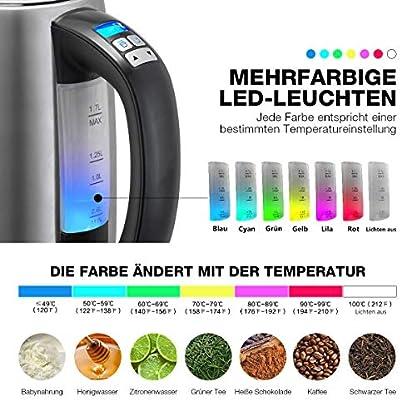 Edelstahl-Wasserkocher-mit-Temperatureinstellung-Aeitto-17L-Wasserkessel-Teekessel-2H-Warmhaltefunktion-Max-2200-Watt-Teekocher-mit-6-Farbigen-Leuchten