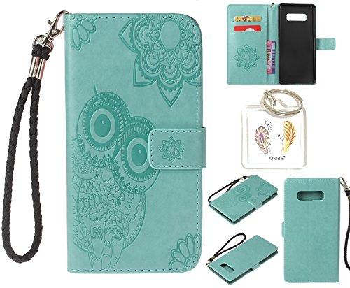 """Preisvergleich Produktbild für Samsung Galaxy Note 8 PU Leder Silikon Schutzhülle Handy case Book Style Portemonnaie Design für Samsung Galaxy Note 8 (5,7"""") + Schlüsselanhänger ( ESZ (6)"""