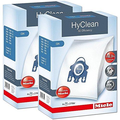 blau Miele Staubsaugerbeutel HyClean XXL Pack 16 Stück GN 8 Filter