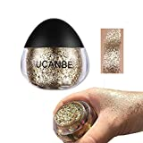 Allbesta Glitzerpaste Kosmetik Gel Gesicht Körper Creme Make-Up Schimmer Gold Silber Diamant Für Party