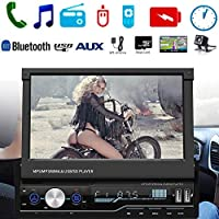 "lennonsi 7"" HD Car MP5 Player Touch Screen GPS Sat NAV Bluetooth Stereo Retractable Radio Camera Car MP5 Bluetooth Player"