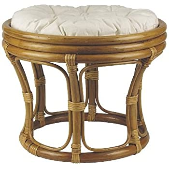 tabouret pouf en rotin marron coussin 100 coton cuisine maison. Black Bedroom Furniture Sets. Home Design Ideas