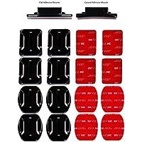 micros2u - Kit de 16 Piezas de Almohadillas Adhesivas para Casco 3M para GoPro Hero Session 6 5 4 3 + 3