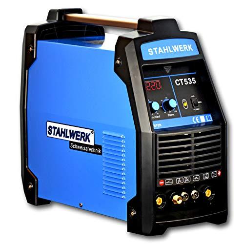 STAHLWERK CT535 S - Kombi Schweißgerät mit Plasmaschneider, 220 Ampere WIG/MMA + 55 Ampere CUT, 5 Jahre Herstellergarantie, blau