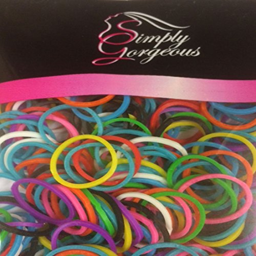 500 X pequeñas bandas elásticas de pelo bandas trenzas de goma de poliéster trenzado - colores mezclados