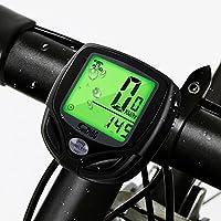 Compteur de Vélo , Mixigoo Ordinateur de Vélo Sans Fil Compteur de Vitesse LCD Rétro-éclairage Multifonction Vélo ordinateurs étanche compteur kilométrique vélo