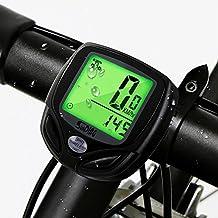 Ciclocomputer , Mixigoo Computer da Bicicletta Contachilometri Bici Wireless Impermeabile Display LCD Retroilluminato Contachilometri da Bicicletta Senza Fili per misurare la velocità e la distanza durante i viaggi in bicicletta - Black