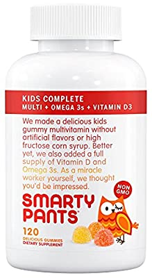 Smartypants Gummy Vitamins with Omega 3 Fish Oil and Vitamin D, 120 Count from SmartyPants