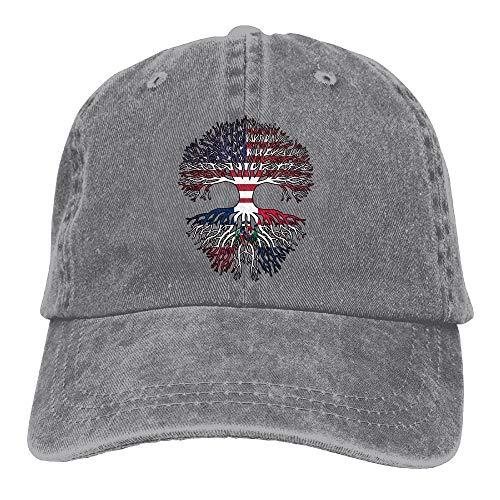 Preisvergleich Produktbild Vidmkeo 2018 Adult Fashion Cotton Denim Baseball Cap American Grown Dominican Root Classic Dad Hat Adjustable Plain Cap New19
