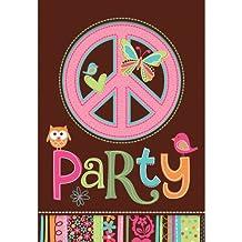 Einladungskarten Hippie Party, 8 Stk.