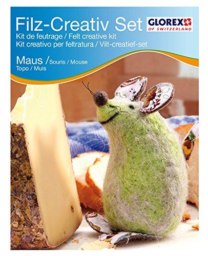 Glorex GmbH 6 2905 917 – Filz-Creativ-Set Maus