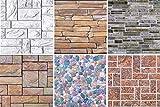 1 Platte | Dekor Paneele | Steinoptik | Wand | PVC | stabil | 98x49 cm | 54614