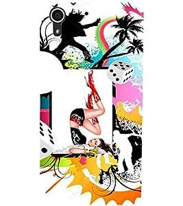 Fuson Dancing Girl Back Case Cover for HTC DESIRE 728 - D4073