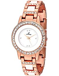 LUCERNE White Designer Dial Copper Metal Casual Gift Watches For Women A Modern Ladies Watch Gifts For Friends