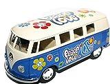 VW Volkswagen Camper Van modello a scala Peace Love Flower Power modello veicolo