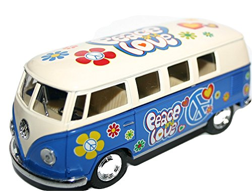 Boys-Children-Boy-Child-Watch-Them-Go-VW-T1-60s-Flower-Power-Love-Peace-Bus-1963-Model-Car-with-Pull-Back-in-Blue-Number-1-Selling-Christmas-Xmas-Top-Up-Stocking-Filler-Gift-Games-Toys-Age-5-One-Suppl