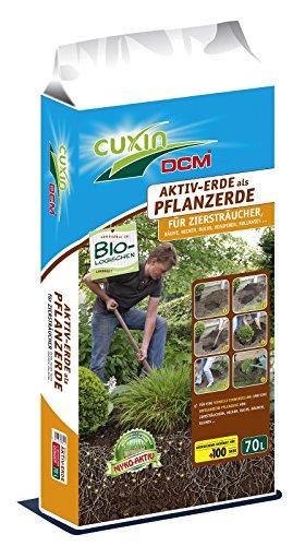 Cuxin Aktiv Erde 70 ltr.Pflanzerde für Ziersträucher Buchsbäume Hecken Bäume (Hecke Baum)