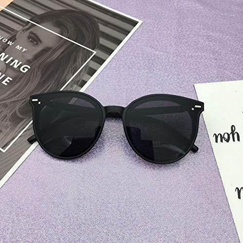CYCY Neue Sonnenbrille weibliche koreanische Version von GM UV-Sonnenbrille weibliche Männer Fahren Gläser F1V Modelle hellschwarz, EIN Abschnitt hellschwarz grau Tabletten