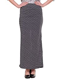 FRANCLO® Women's stripe skirt (Best fit 30-34 waist) (100%imported Fabric)