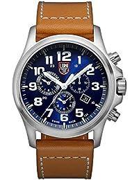 amazon co uk luminox watches luminox atacama field chronograph alarm men s quartz watch blue dial featuring llt luminox light technology 45 millimeters
