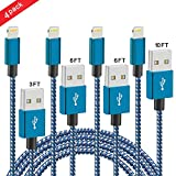 dreamerd iPhone Ladekabel, 4 Pack 3 Ft 6 ft 6 ft 9 ft Lightning auf USB Ladekabel Kabel für iPhone, iPad, iPod …
