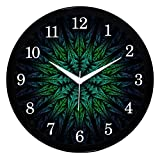 #7: IT2M 11 Inch Round Designer Wall Clock With Glass (Non Ticking, Sweep Movement)
