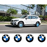 4x BMW LED permiten rueda tapas para centro luz azul insignia Logo Hub Emblema de la campana 68mm