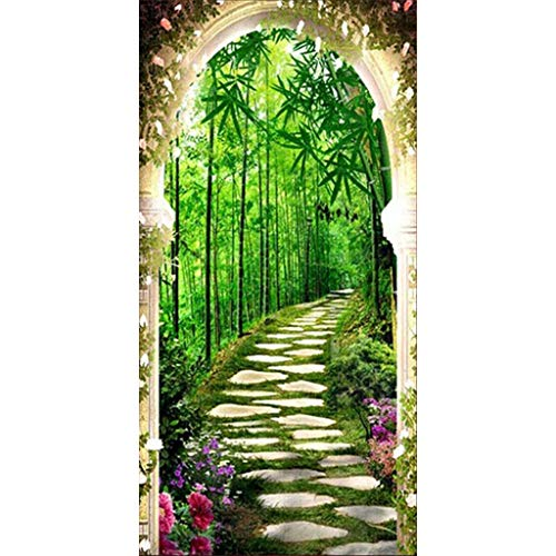 MM456 5D DIY Diamond Painting Kit Full Drill Diamantmalerei Rhinestone Embroidery Cross Stitch Arts Craft for Home Wall Decorative Paintings -Bamboo Forest Flower -45 * 85CM