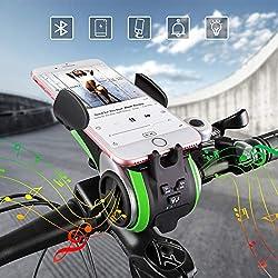 Enceinte vélo Bluetooth UPPEL Haut-Parleur Bluetooth Support vélo, Enceintes Bluetooth Portables en extérieur Sport Camping, Compatible Lecture Carte Micro SD/TF