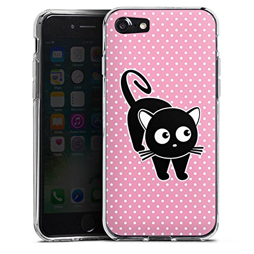 Apple iPhone X Silikon Hülle Case Schutzhülle Katze Punkte Cat Silikon Case transparent