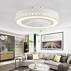 JINWELL Ventilateur De Plafond Créatif Moderne Plafonnier LED Dimmable Ventilateur De Plafond avec Éclairage et Télécommande Silencieuse Pépinière Chambre Restaurant Éclairage