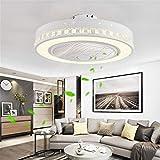 JINWELL Fan Deckenleuchte kreative moderne Deckenleuchte LED Dimmbar deckenventilator mit beleuchtung und fernbedienung leise Kinderzimmer Schlafzimmer Wohnzimmer beleuchtung