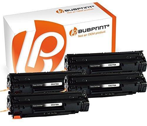 Bubprint 4 Toner kompatibel für HP CE278A 78A für Laserjet M1500 M1536DNF M1537DNF M1538DNF M1539DNF P1566 P1600 P1606DN P1607DN P1608DN MFP Schwarz - Hp Ce278a Kompatibel Toner