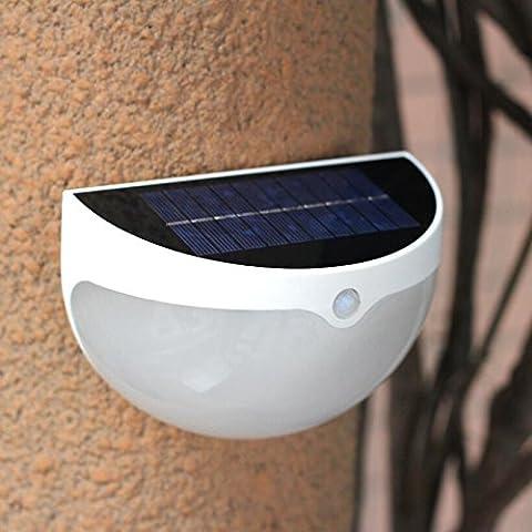 VICTORSTAR Solarleuchten, LED Solar Wandleuchte / Gartenleuchte, Licht & Bewegung Sensor, 24 LED Regenschutz Sicherheit Außenleuchte mit 2 Helligkeit für Garten, Park, Zaun, Terrasse, Deck, Hof, Haus, Auffahrt - N761