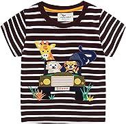 Camiseta para Niños Pequeños,Verano Muchachos Chicas Algodón Linda Dibujos Animados Animal Modelo Corto Manga