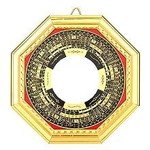 Chanceux Chinois FengShui Dent Convexe Bagua Miroir Talisman Taoïste Pour La Décoration De La Maison Ornement(Convexe)