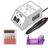 SymbolLife professionale salone di manicure pedicure file di foratura elettrico del chiodo corredo dello smalto set bit gel acrilico nail art grigio bianco