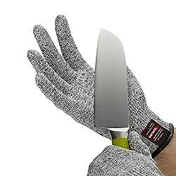 Schnittschutzhandschuhe,e821 Hochleistung Schnittschutz Hochfesten Lebensmittelecht schnittfeste Handschuhe, EN 388 Stufe 5 Cut Küche Handschuhe